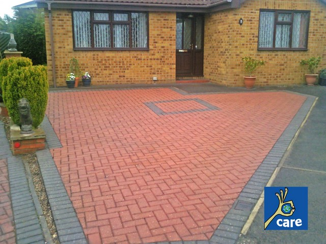 Block Paving Driveway After Being Cleaned